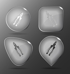 Combination pliers Glass buttons vector image