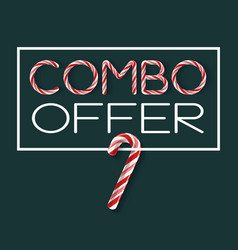 Combo offer - creative poster vector