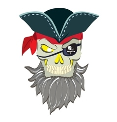 Danger pirate skull in bandane vector