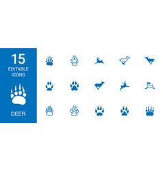 deer icons vector image