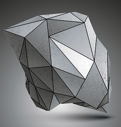 Deformed sharp metallic stone shaped object vector