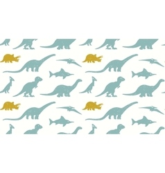 Dinosaurs silhouettes on white background vector image