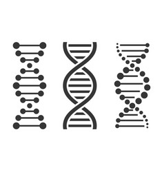 dna icons set on white background vector image