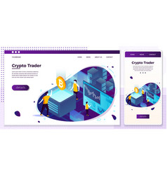 eps crypto currency trading process set vector image