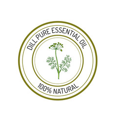 essential oil label vector image