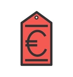 Euro Tag vector