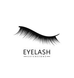 Eyelash logo template eyelash extension concept vector