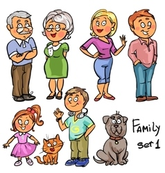 Family - set 1 vector image