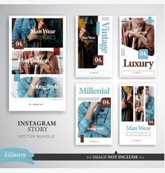 Fashion trend instagram story template vector