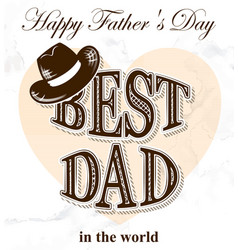 fathers day postcard in retro style vector image