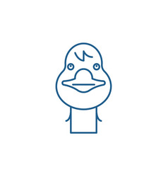 funny goose line icon concept funny goose flat vector image