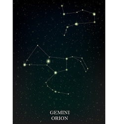 Gemini and Orion constellation vector image