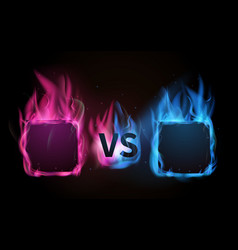 glowing versus screen pink vs blue confrontation vector image