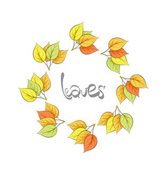 golden leaves background vector image