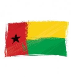 grunge Guinea-Bissau flag vector image