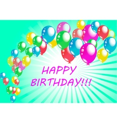 Happy birthday poster greeting card vector