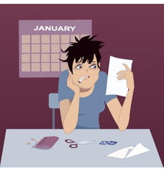 Holiday debt vector image