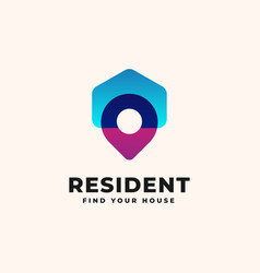house point logo design template - good to use vector image