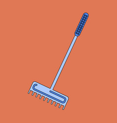 Icon in flat design rake vector