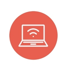Internet wifi thin line icon vector image