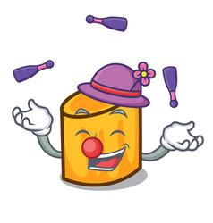 juggling rigatoni mascot cartoon style vector image