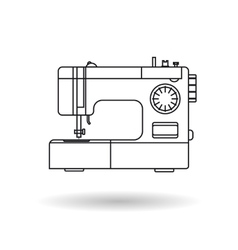 Line icon - sewing machine vector image