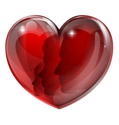 loving family heart vector image