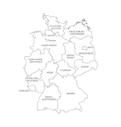 Map of germany divided to federal states vector