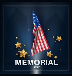 Memorial day remember and honor with usa flag vector