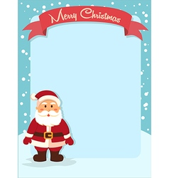 Merry Christmas Santa Banner vector image