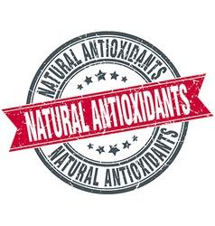 Natural antioxidants red round grunge vintage vector