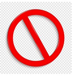 No sign isolated on transparent background vector