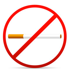 no smoking sign isolated on white vector image