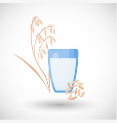 oat milk flat icon vector image