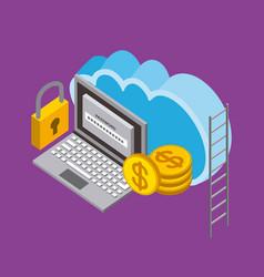 people cloud computing storage vector image