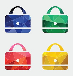 purse icon Abstract Triangle vector image