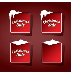 Red Christmas web buttons set winter web buttons vector