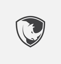 Rhino shield icon design vector