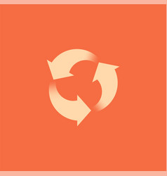 Rotation arrows icon signs recycling vector