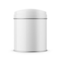 round glossy tin can template vector image