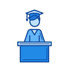 school graduation line icon vector image
