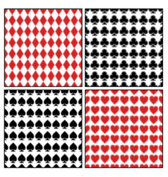 set different seamless card suits vector image