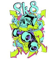 sk8 life vector image