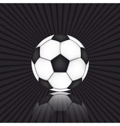 Soccer ball on black background vector image