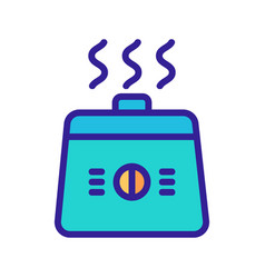 Square crock-pot in action icon outline vector