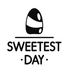 sweet candy day logo simple style vector image