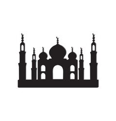 Taj Mahal temple vector