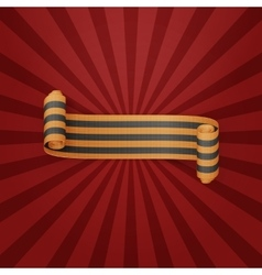 Textile scroll St George Ribbon vector