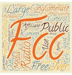 The FCC and Free Speech 1 text background vector image