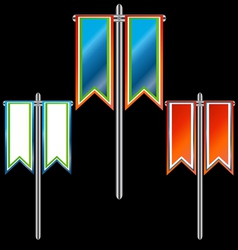 Three banners vector image